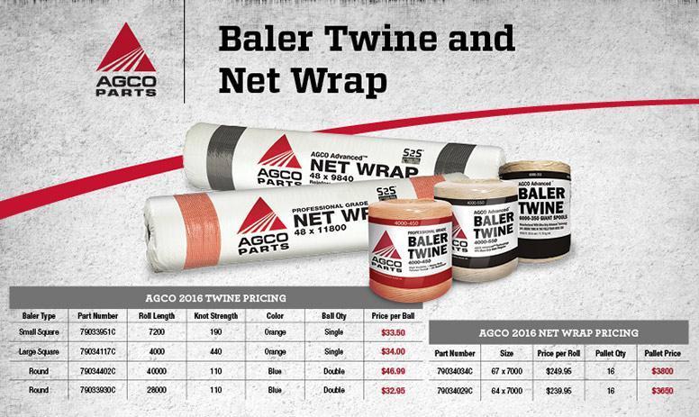 AGCO Baler Twine Sale 2018